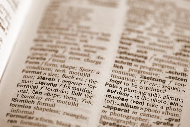 strana slovníku